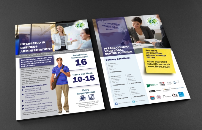 Free A4 Front and Back Flyer Mockup2