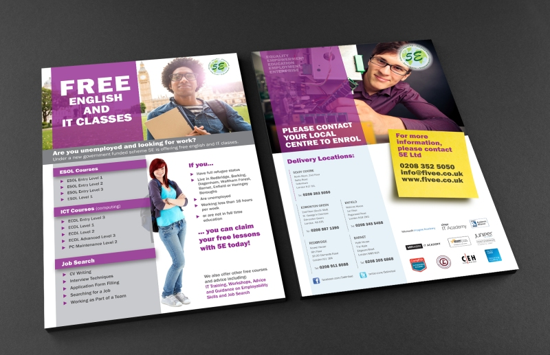 Free A4 Front and Back Flyer Mockup3
